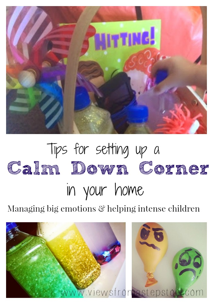 The best alternative to a time-out, a calm down area for preschoolers and toddlers. What's in ours, and how you can set one up too!