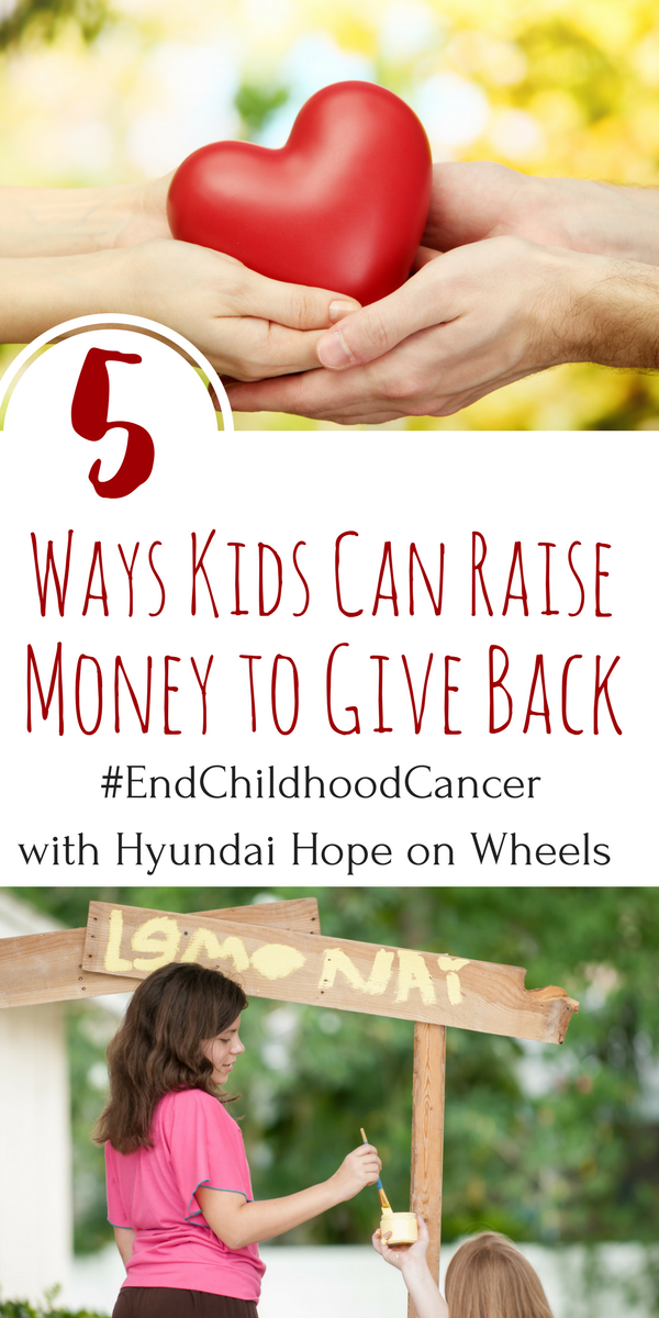 Hyundai Hope on Wheels brings awareness to pediatric cancers and donates money to groundbreaking research. Here are 5 ways kids can raise money to help.